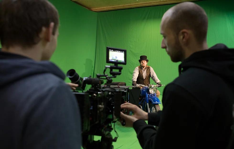 natáčení v GreenScreen studiu